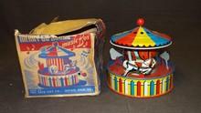 Boxed Ohio Art Merry-Go-Round Music Box