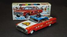 Japanese Tin Animal Circus Car Boxed.