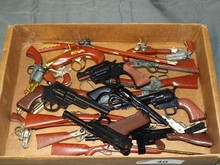 Lot of Assorted Toy Cap Guns