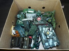 Lot of Assorted Army Related Toy Vehicles