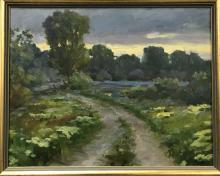 Ovanes Berberian (born 1951) Oil on Canvas.