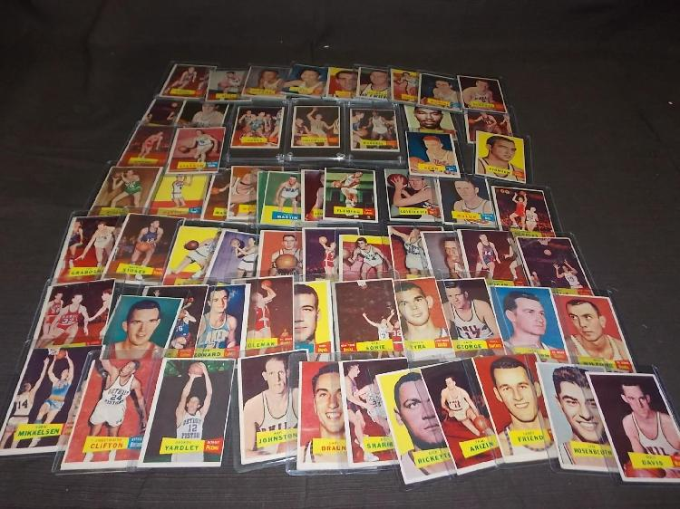 1957 Topps Basketball Card Lot