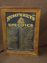 Humphreys Specifics Wooden Counter Display Cabinet