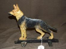 Cast Iron German Shephard Doorstop