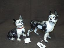 (2) Cast Iron Boxer Dog Doorstops