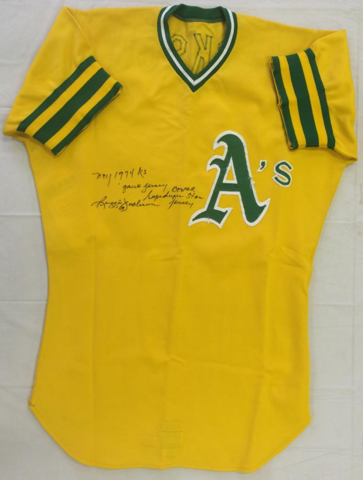 brand new 9cb88 b55fd 1974 Reggie Jackson Oakland A's Game Worn Uniform