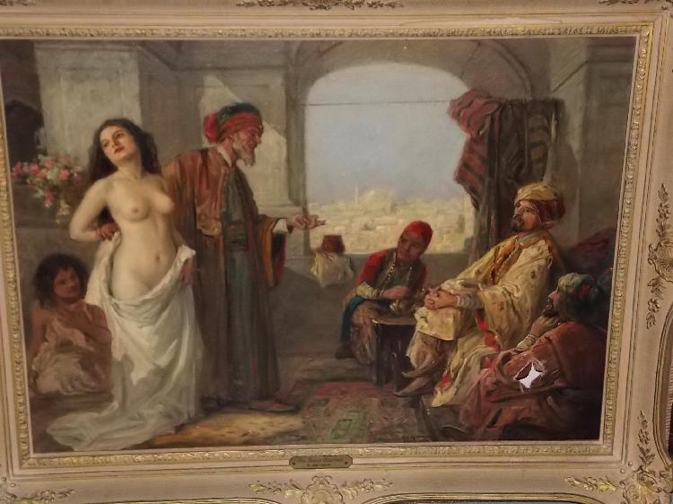 Image result for painting of female slave sold at auction