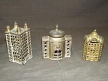 (3) Cast Iron Building Banks
