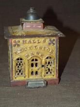 Halls Excelsior Cast Iron Mechanical Bank