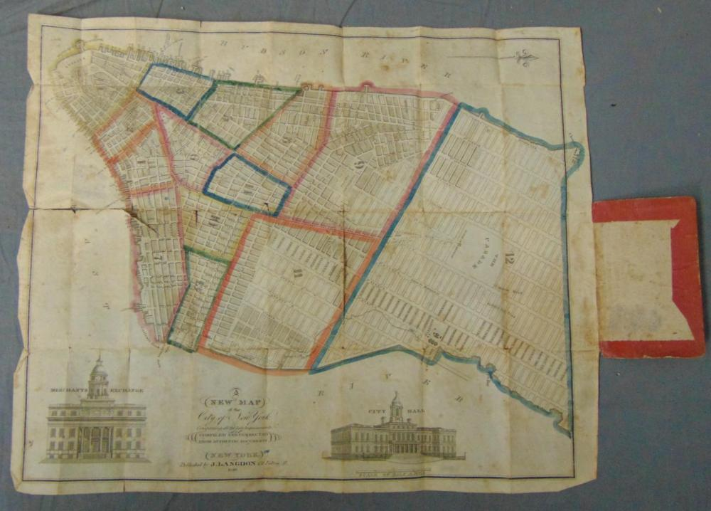 J. Langdon. Map of New York City.