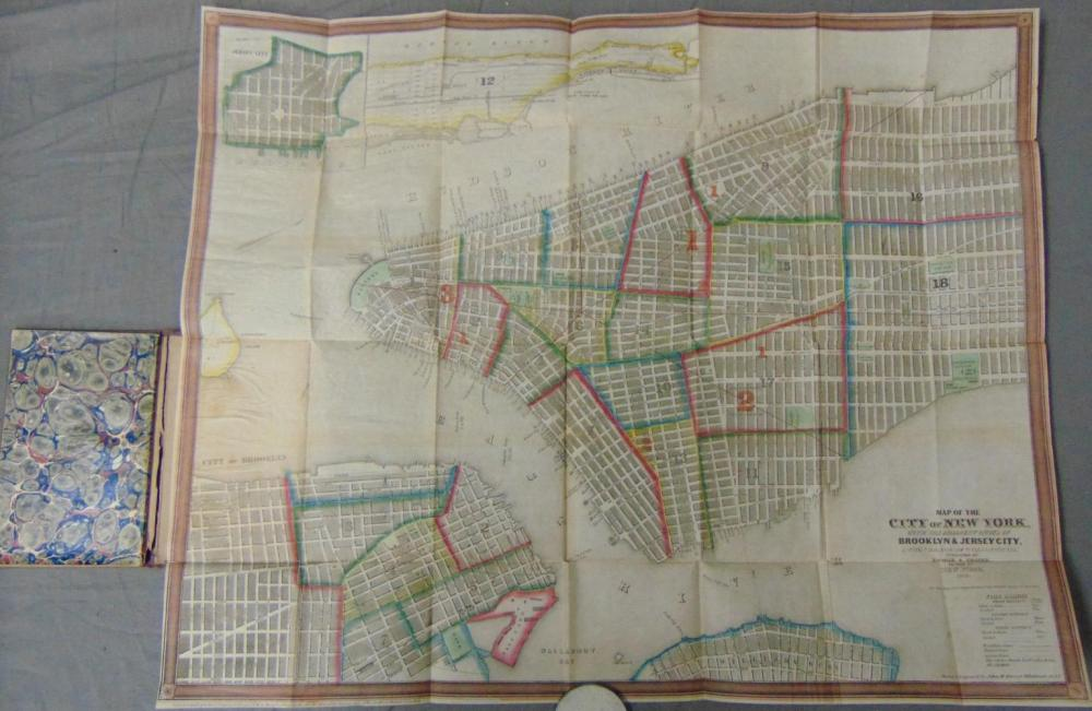 Scarce, Ensign & Thayer's Map of New York.