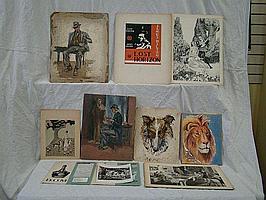 6 Paintings by Elizabeth Margaret Rungius Fulda