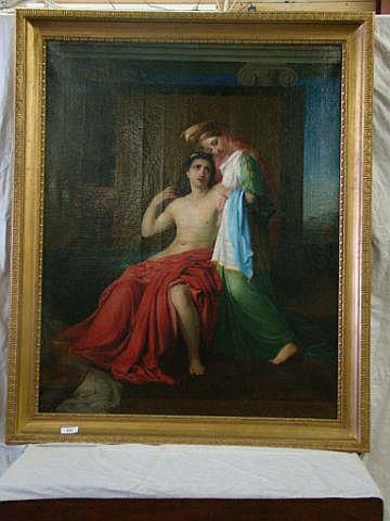 Paris & Helen by Henri Joseph Duwee (1851) A large