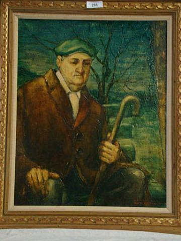 W. Cortland Butterfield Oil painting of a man with