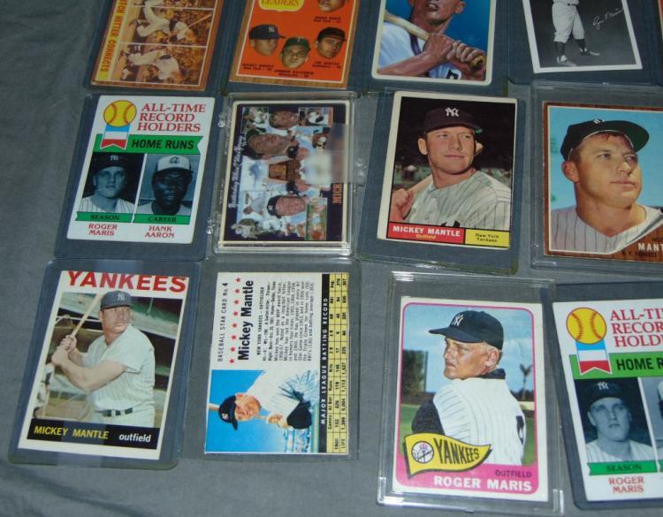 Mickey Mantle Roger Maris Baseball Card Lot