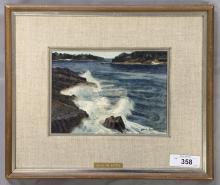 Joseph L. Santoro (1908 - 1998), Watercolor