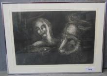 Marcelo Grassmann (Brazil 1925-2013) Lithograph