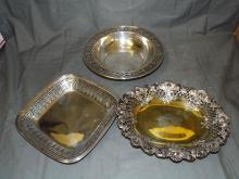 (3) Tiffany & Co Sterling Silver Serving Dishes