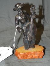 .925 Silver Judaica Sculpture, Cellolist