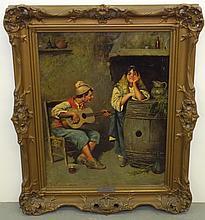 Carlo Ciappa  (1800 - 1900) Oil on Canvas.