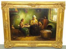 Eybergen. Dutch. Oil on Canvas.