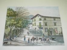 Street Scene Watercolor, Artist Signed