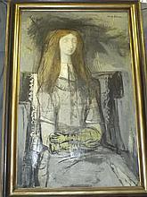 Carlos Lopez  (1910 - 1953) Oil on Canvas,