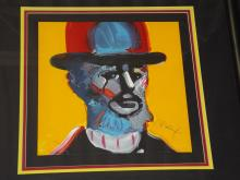 Peter Max Signed Lithograph, Toulouse Latrec
