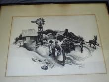 Thomas Benton, Signed Lithograph