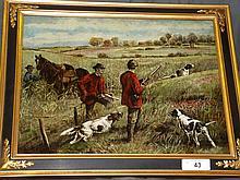 Edmund Henry Osthaus, Oil on Canvas Hunting Scene