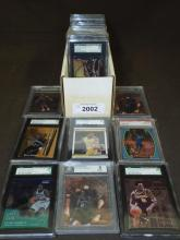 Graded Football & Basketball Superstar Card Lot.