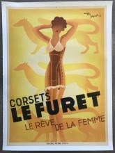 Corsets Le Furet, French Advertising Poster