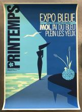 Spring, Expo Blue Poster, 1983, Audras