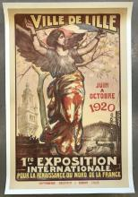 1920, Ville De Lille, French Exposition Poster