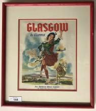 Glasgow by Clipper, Pan Am World Airways Poster