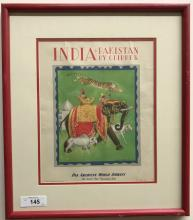 India & Pakistan by Clipper, Pan Am Airways Poster