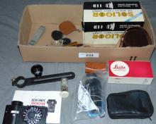 Box of Camera Accessories.