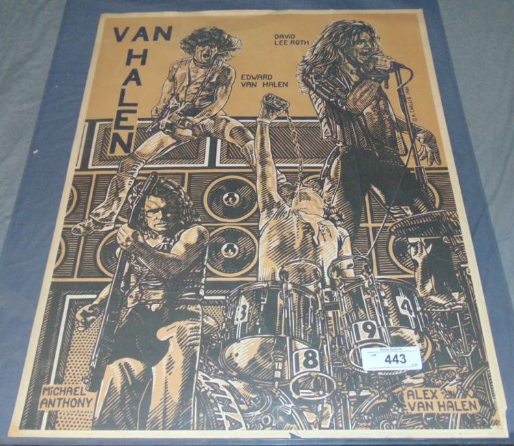 Van Halen 1980 Poster