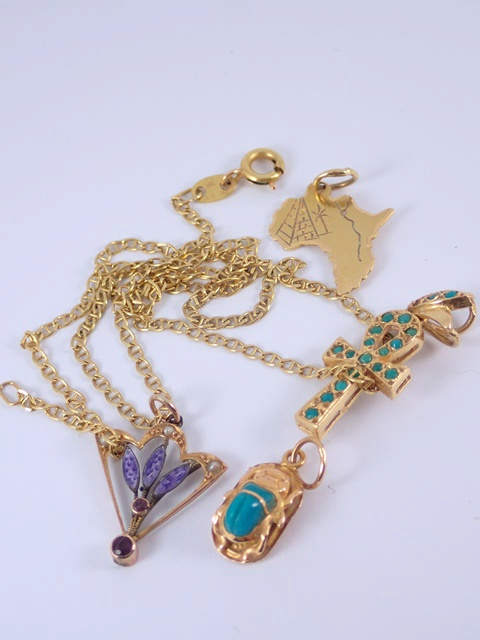 Lot of 18ct gold jewellery