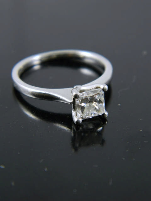 A fine diamond solitaire ring with an EGL certificate which states the diamond is 0.70cts D colour &