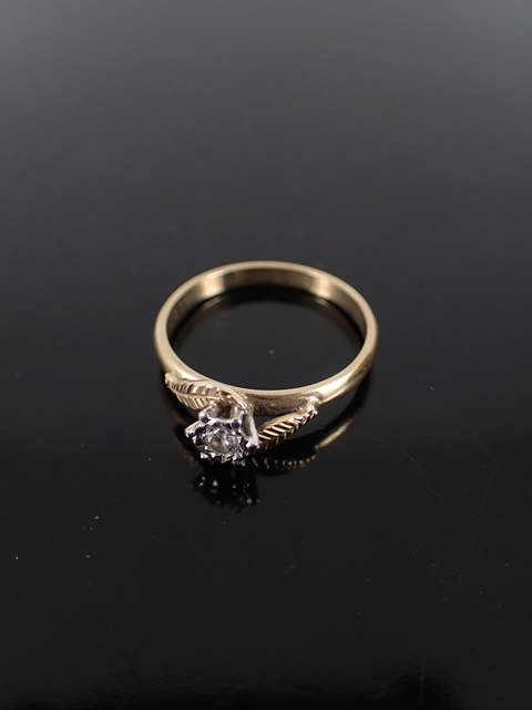 A 9ct gold diamond solitaire ring