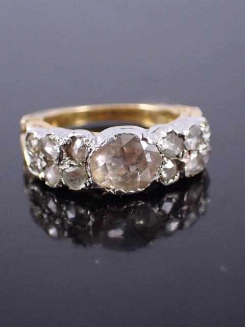 A diamond set gold ring