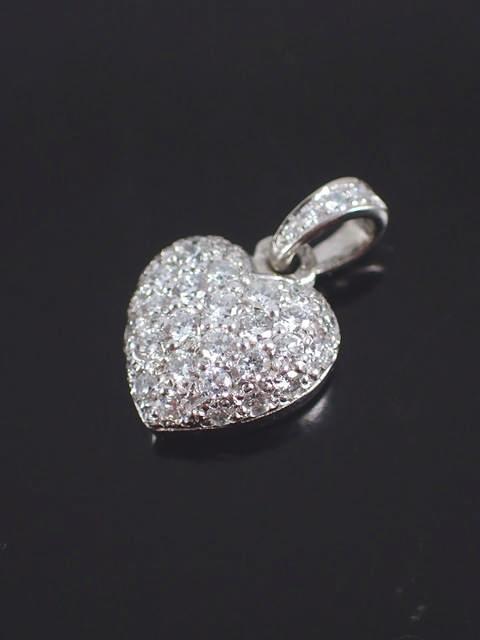 A diamond set heart pendant