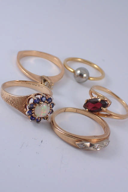 Five rings approx. 11.7 grams