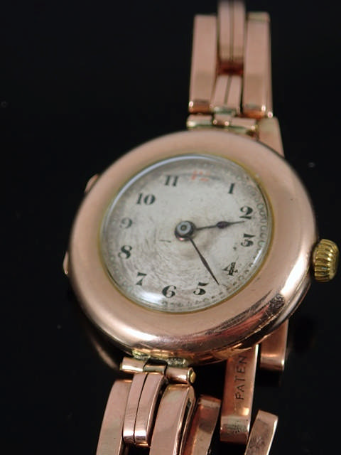 A lady's gold vintage Rolex watch