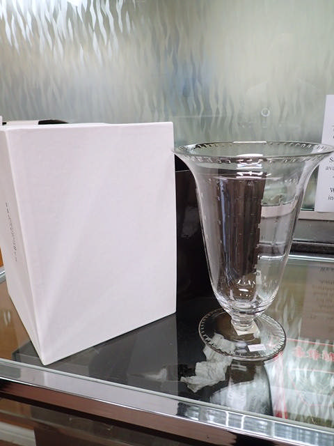 A Waterford Crystal Jean Trumpet vase in box