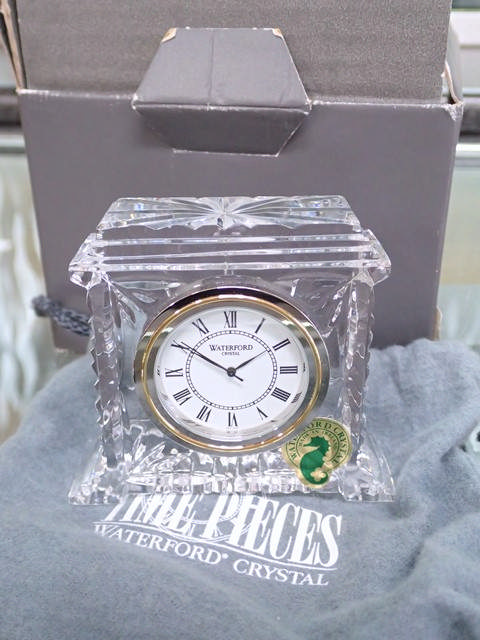 A Waterford Crystal 'Pavillion' clock in box