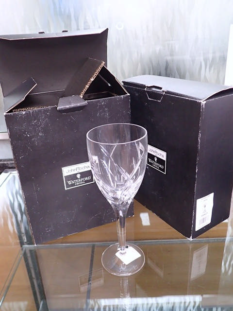 Four Waterford Crystal John Rocha glasses in box