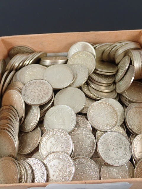 A collection of Indian coins