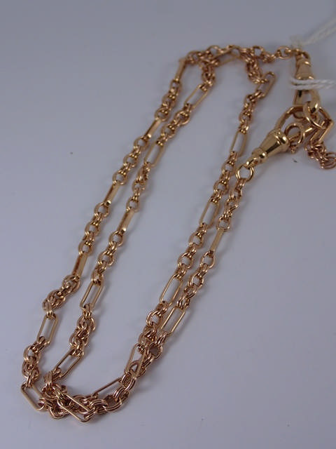 A 9ct gold fancy chain